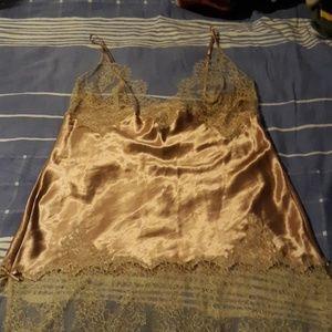 Vintage Victoria's Secret Eyelash Lace Chemise L